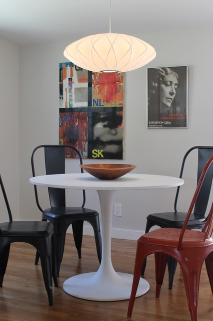 saarinen style tulip table and nelson saucer pendant modern dining room los angeles by. Black Bedroom Furniture Sets. Home Design Ideas
