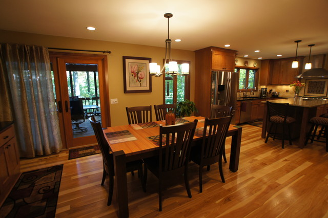 sabaka trail kitchen and dining room craftsman dining room