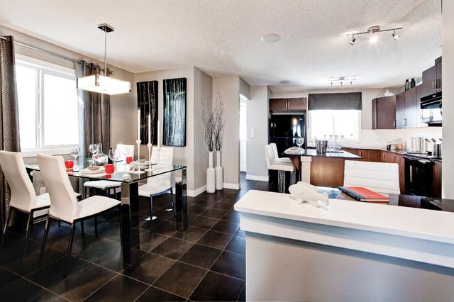 Samara Duplex Showhome - Essence of SkyView Ranch contemporary-dining-room