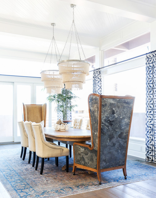 beach style dining room orange county by blackband design