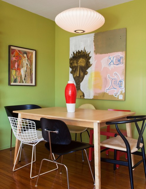 San Francisco Mid-Century Mix eclectic-dining-room