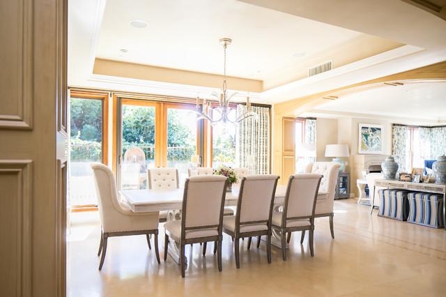 beach style dining room orange county by erica bryen design