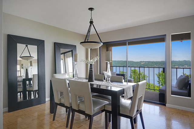 Sandpoint View Condo Dining Room contemporary-dining-room