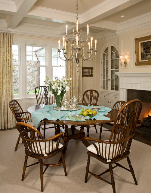 santa barbara dutch colonial beach style dining room other metro by kathryne designs inc. Black Bedroom Furniture Sets. Home Design Ideas
