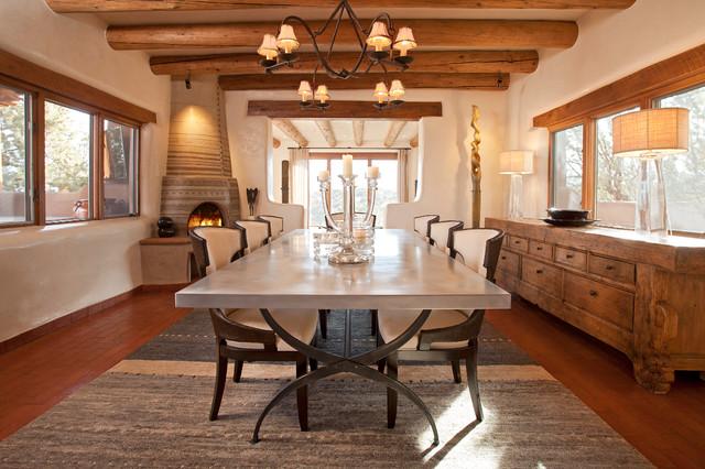 Santa Fe Chic Pueblo Southwestern Dining Room