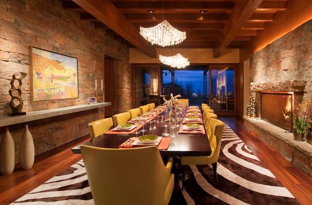 Santa Fe Retreat Southwestern Dining Room