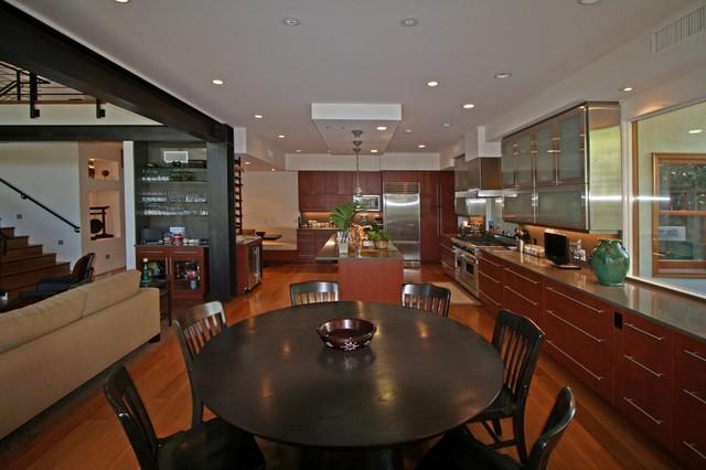 santa monica remodel contemporary dining room los