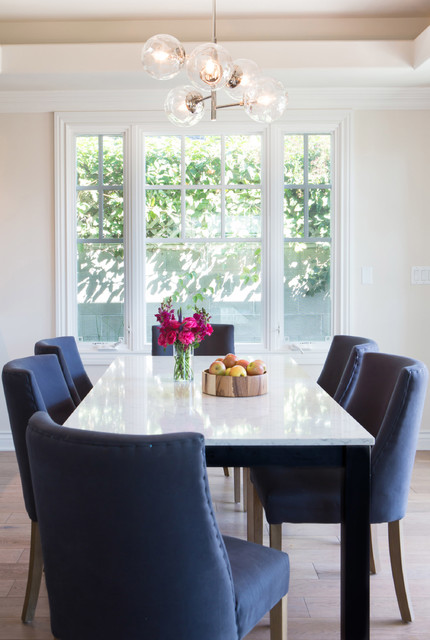 santa monica residence transitional dining room by