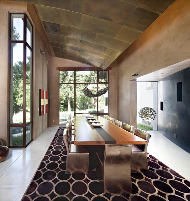 Saratoga Creek House contemporary-dining-room
