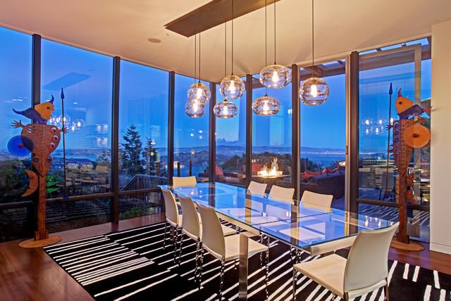 Nice Sausalito Wolfback Ridge Residence Midcentury Dining Room