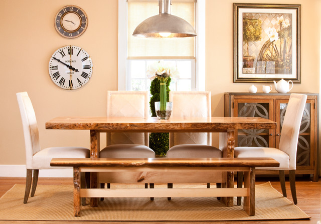 saybrook country barn style transitional dining room