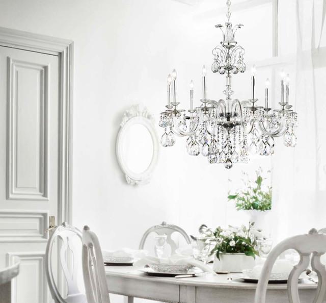 Schonbek Crystal Chandeliers victorian-dining-room