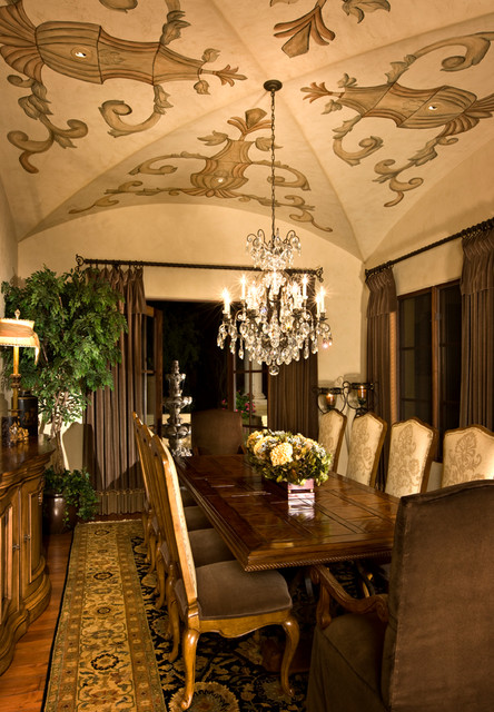 Scottsdale Tuscan Villa Mediterranean Dining Room