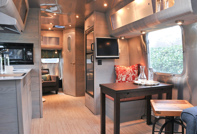 Borrow decorating ideas from these 9 space-savvy vintage trailers to