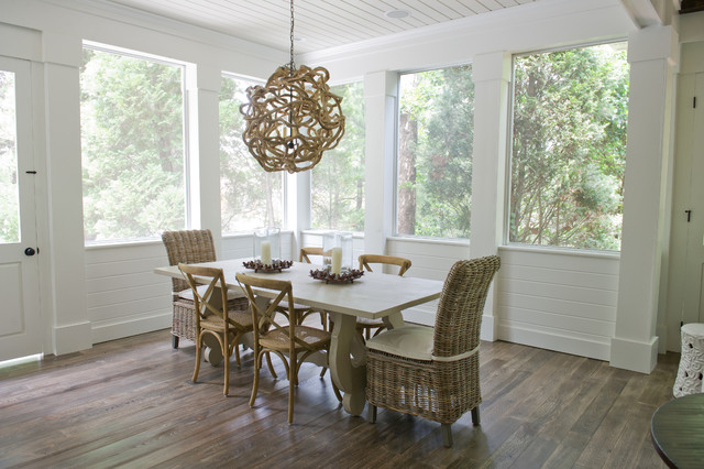 Screen Porch Beach Style Dining Room