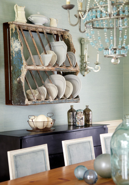 Beach Style Dining Room by Madison Interior Designers & Decorators Jules Duffy Designs