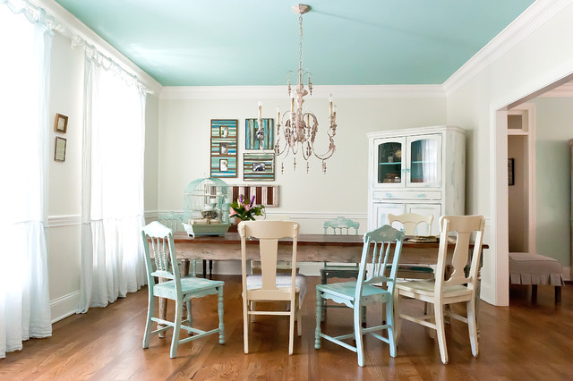Seaside Style In Brentwood TN Suburbia Shabby Chic Dining Room