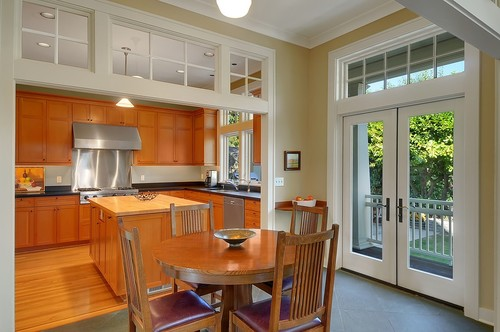 transom windows provide additional light
