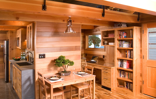 Seattle houseboat a floating home renovation rustic kitchen seattle by mlb design group - Seattle kitchen design ...