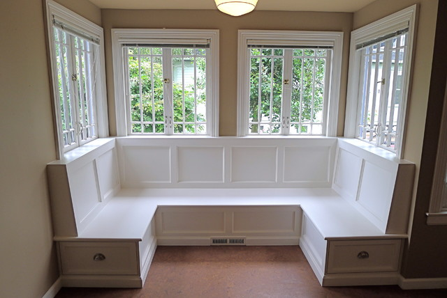 Sellwood banquette traditional dining room portland by paul johnson carpentry remodeling - Building a kitchen banquette ...