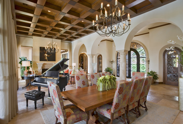 Seven Oaks Showcase mediterranean dining room