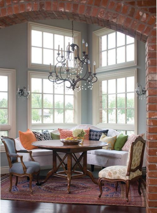 eclectic dining room by Andrea Schumacher