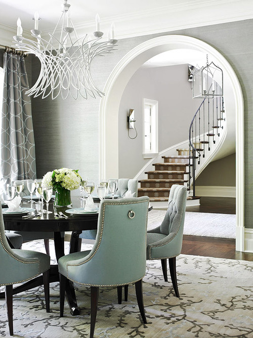 Where can i purchase the grey grasscloth wallpaper for Grey dining room wallpaper