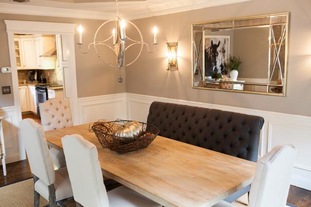 shades of grey dining room - Transitional - Dining Room ...