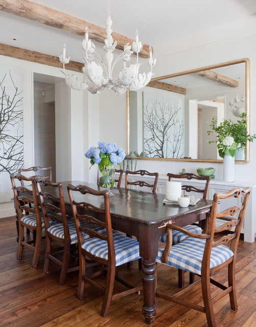 Shelter Island Beach House beach-style-dining-room