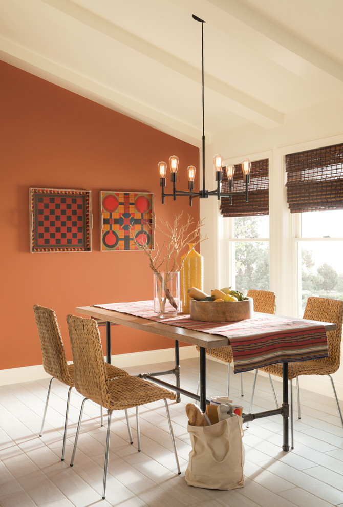 Inspiration for a southwestern dining room remodel in Columbus