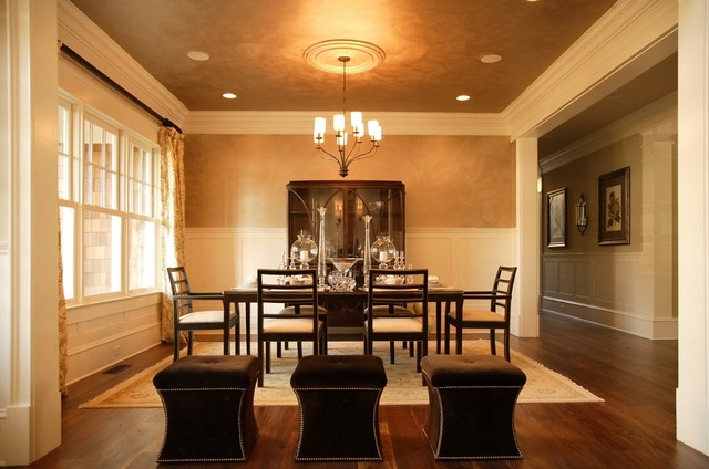 Shingle Style House traditional-dining-room