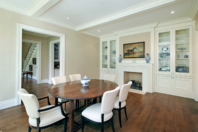 Shingle Style - Ridge Road traditional-dining-room