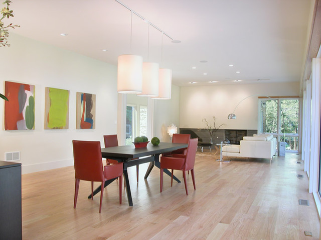 Short Hills house contemporary-dining-room