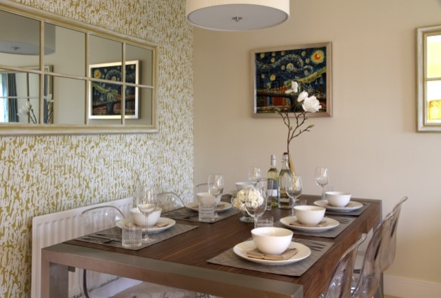 show home dining room transitional dining room