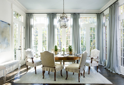 Interesting How Low Should Your Drapes Go With Dining Room Curtains.