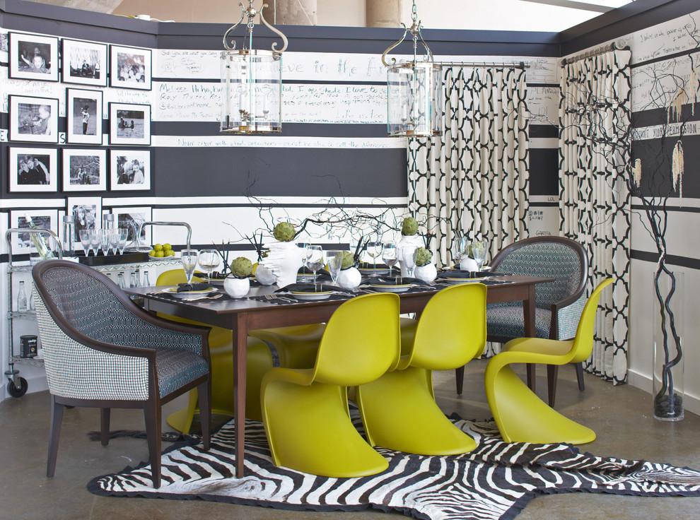 Eclectic concrete floor dining room photo in Bridgeport