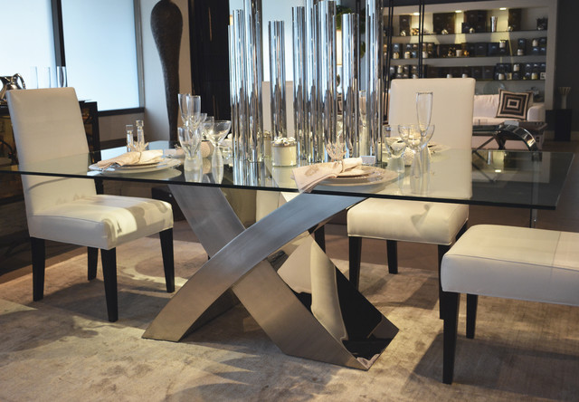 Syrah Marble and Stainless Steel Dining Table  amazoncom