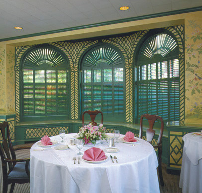 Shutter Panels traditional-dining-room