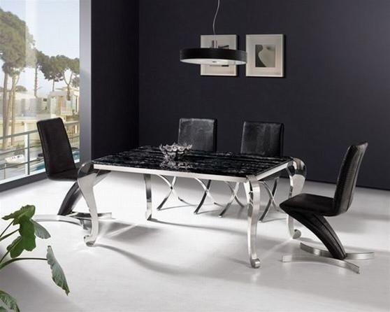 Sidney Signature Marble Dining Set > $1,445.99 modern-dining-room