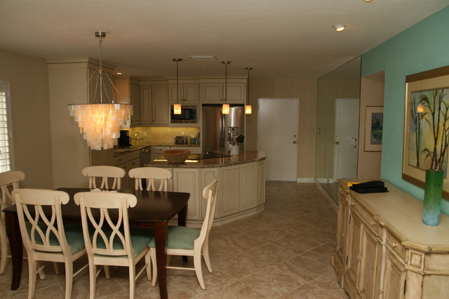 Beachfront Condo Renovations : Siesta key condo remodel beach style dining room