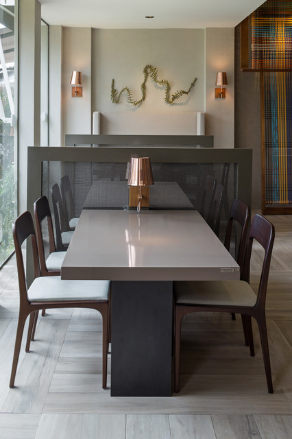 Silestone Kensho Dining Space Contemporary Dining Room