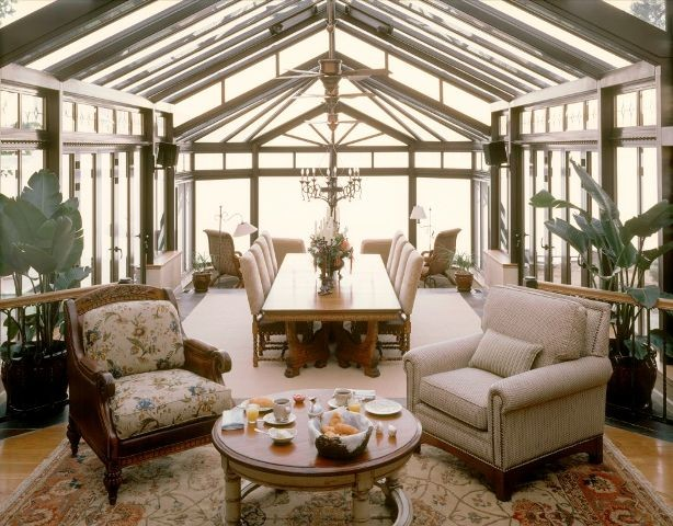 Silver Pines Residence Conservatory Dining Area traditional-dining-room