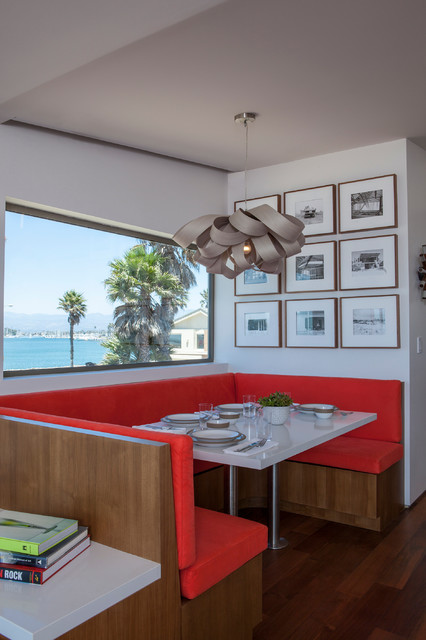 Silver Strand Beach House contemporary-dining-room