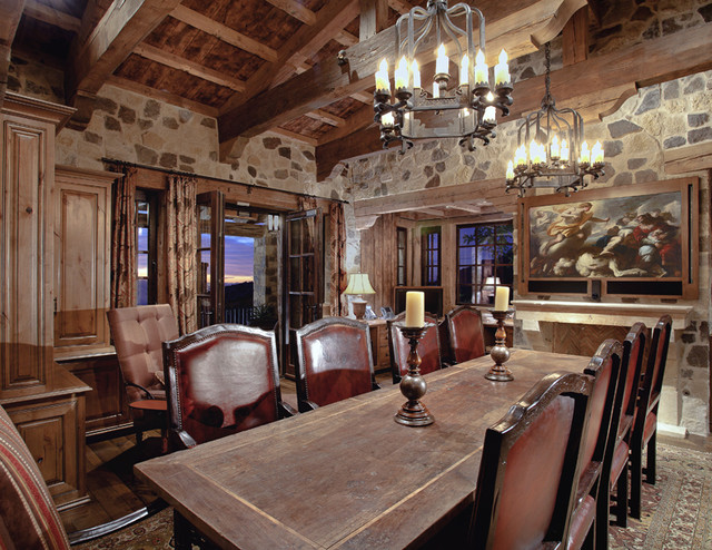 Silverleaf Summit Residence traditional dining room