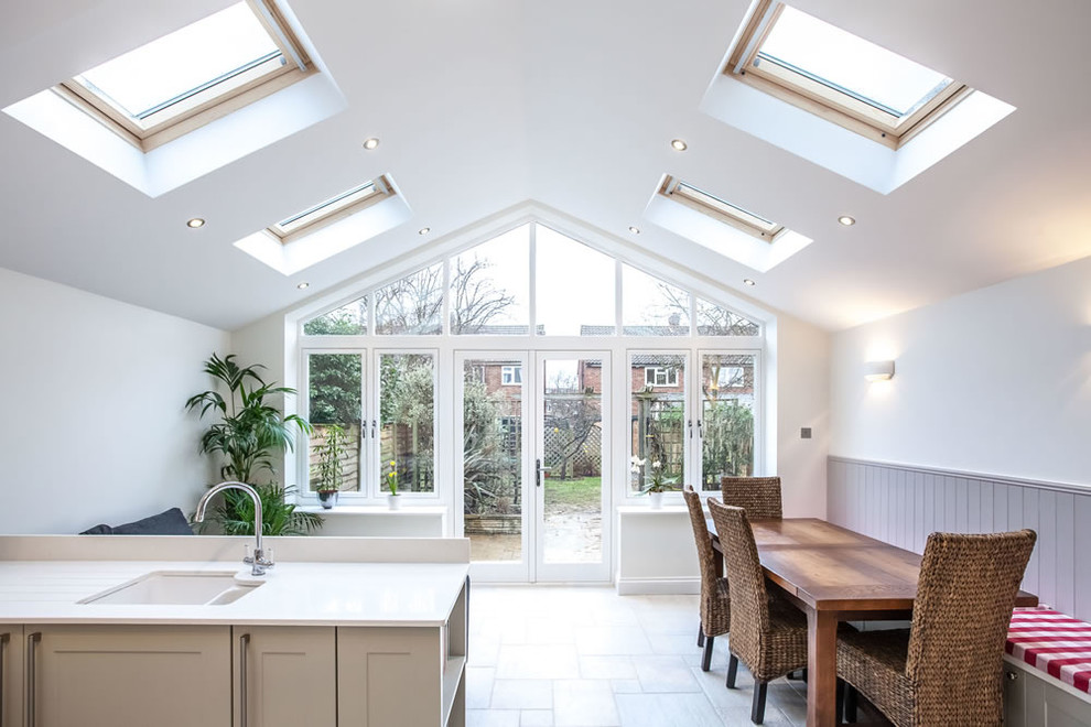 Single Storey Pitched Roof Extension In Teddington Contemporary Dining Room London By Go Building