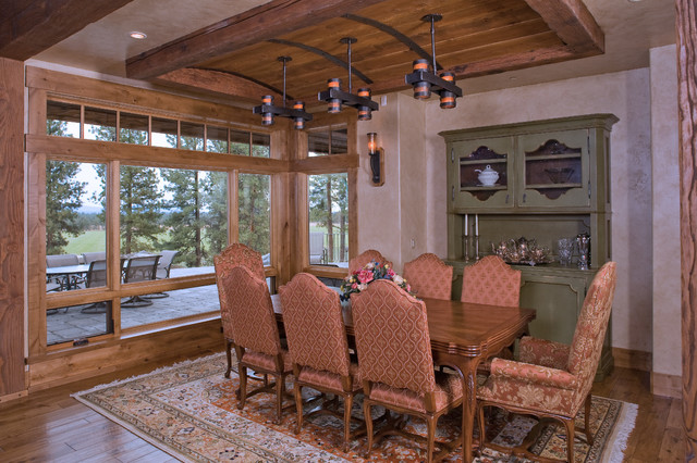 Sister's home near Bend, OR traditional-dining-room