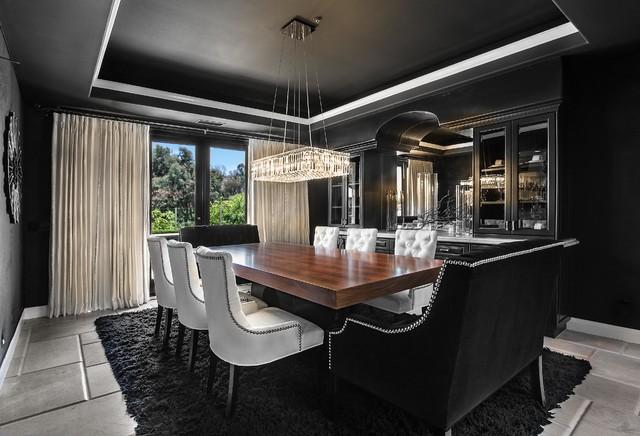 Sjc dramatic remodel contemporary dining room orange county by orange coast interior design for Orange county interior designer