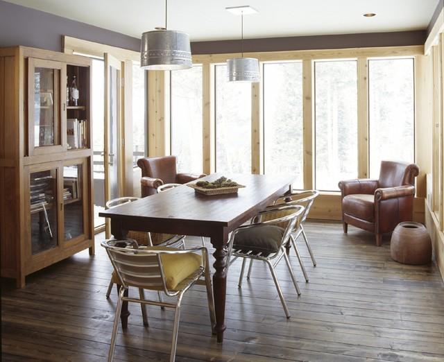 Ski House rustic-dining-room