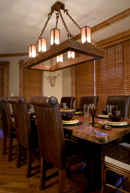 Example Of A Mountain Style Dining Room Design In Sacramento