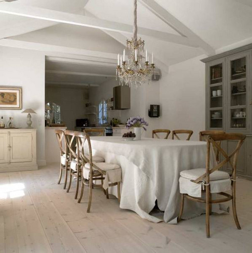 Inspiration for a beige floor dining room remodel in Other